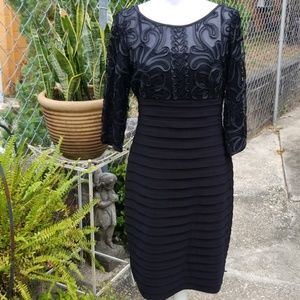 NWT Adrianna Papell Black Lace Dress, Size 10